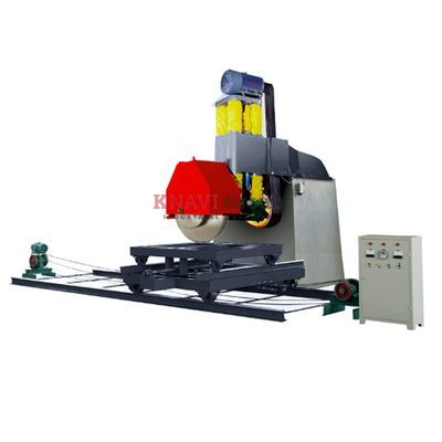 Single column stone block cutting machine