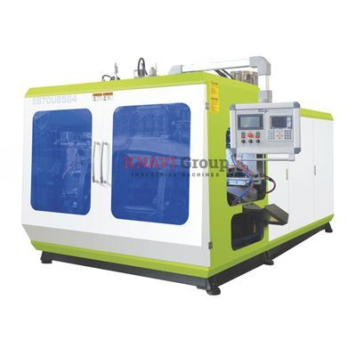 Two-station high speed extrusion blow molding machine