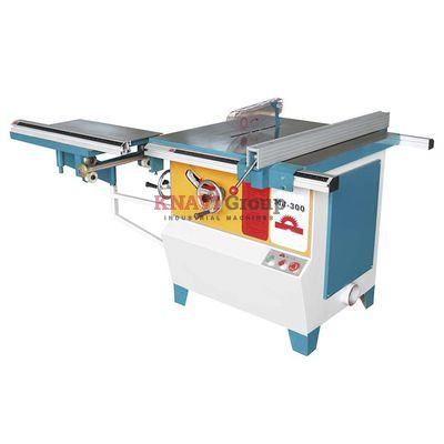 Woodworking circular saw with tilting saw