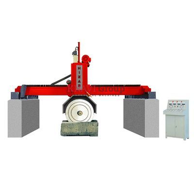 Bridge-type multiblade stone block cutting machine