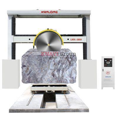Stone block squaring cutting machine