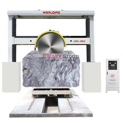 Stone block squaring cutting machine